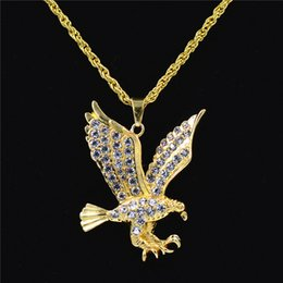 Hawks sale online shopping - Uodesign Brand Eagle Necklace Statement Jewelry Sale Gold Color Hawk Animal Charm Pendant Chain For Men
