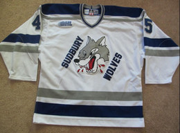 Jerseys Wolf Australia - Vintage Kyle Lekun Sudbury Wolves Hockey Jersey Embroidery Stitched Customize any number and name Jerseys