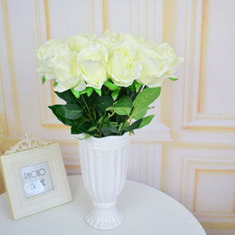 ArtificiAl flower for decorAtion tAbles online shopping - New Design Fake Artificial Flowers Silk Roses For Homes Table Party Wedding Christmas Decorations Gifts