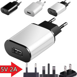 Discount uk eu plug - 2A Eu US UK AC home travel wall charger power adapter plug for iphone 7 8 x samsung s7 edge s8 android phone pc mp3