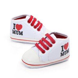 Baby Girl Summer Canvas Shoes Australia - Toddler Newborn Shoes Baby Infant Kids Boy Girl Soft Sole Contton Canvas Sneaker Love Mum for Summer Spring Autumn 0-18Months