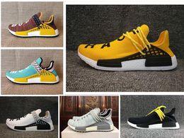 Discount body earth - NEW Body earth trail Running Shoes Men Women Pharrell Williams HU Runner Yellow Nerd core Black White Red sports shoe sn