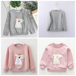 Kids clothes hoodies online shopping - Kids unicorn hoodie Sweatershirt children sweater unicorn autumn winter kids hoodies baby child pullover top home Clothing AAA1288