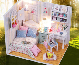 $enCountryForm.capitalKeyWord NZ - DIY Wooden Doll House Toy Doll House Mini Assembly Kit Furniture Handmade Mini Cabin Creative Decoration Simple Model