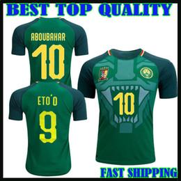 d50813ac745 2018 Cameroon world cup home away jerseys eto o 17 18 Vincent Aboubakar  Clinton N'Jie Benjamin Moukandjo maillot de foot top football shirts
