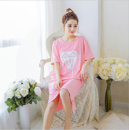 Cozy Shirt NZ - 2016 Sell well Cotton sleepwear Women's Cozy wearing loose Short sleeve Nightgowns Breathable Home Suit Nightdress