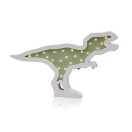 $enCountryForm.capitalKeyWord UK - Home Decor Accessories Creative Wood Dinosaur LED Night Light Ornaments LED Lamp Children Toy Gifts Wall Hanging Decor