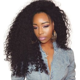$enCountryForm.capitalKeyWord NZ - Lace Front Human Hair Wigs 250% Density Remy Brazilian Curly Wigs For Women Plucked With Baby Hair Natural Color