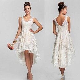 Chinese  2018 Lace High Low Lace Short Bridesmaids Dresses Empire Pleats Chiffon Long Plus Size Maid Of Honor Wedding Party Dress manufacturers