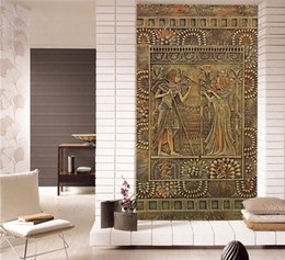 Chinese  Wall Painting Egyptian Pharaoh 3D DIY Mural Wallpaper Background Living Room Bedroom Door Wallpaper Self-adhesive Stickers manufacturers