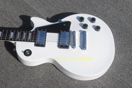 Wholesale Custom Shop Standard Classic White Electric Guitar White Body Binding Tulip Tuners Trapezoid MOP Fingerboard Inlay Chrome Hardware