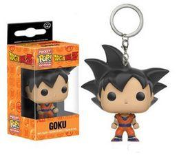 Goku Hot Toy NZ - Funko Pocket POP Keychain - Goku Dragon Ball Z Vinyl Figure Keyring with Box Toy Gift Good Quality t580 hot