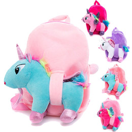 $enCountryForm.capitalKeyWord Australia - Cartoon Plush Both Shoulder Knapsack Fashion Birthday Gift Backpack For Kids Classical Unicorn School Bag High Quality 16 8xc Ww