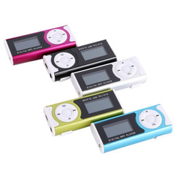 Mini Mp3 player 32gb online shopping - Mini Mp3 Player With LCD Screen Built in Speaker Music Support GB GB GB GB GB TF card MP3 player Free the DHL
