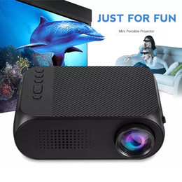 Multimedia Media Player Australia - YG320 HD Mini LED Projector USB Home Theater Multimedia Player Support HDMI TV Media Movies Players Beamer Portable Cinema Rechargable