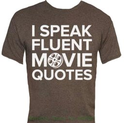04645add2 Print T-shirt Men Summer Style I Speak Fluent Movie Quotes T-shirt-that  Funny Shirt