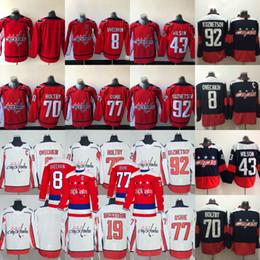 Hockey jerseys carlson online shopping - 2018 Stanley Cup Champion  Washington Capitals Alex Ovechkin Nicklas Backstrom 01128cd8f