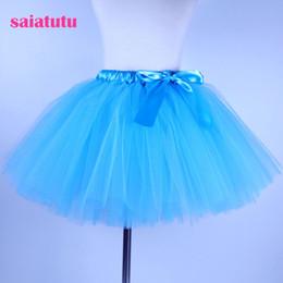 Red White Blue Tutus Australia - 2018 NEW blue tulle toddler children baby costume ball gown party dance wedding short pettiskirt tutu girl kids skirt