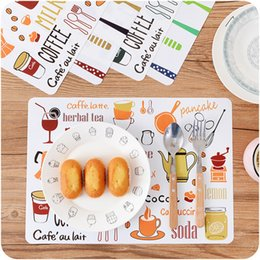 Discount insulation prices European Printing Western Table Mat PP Plastic Anti - hot Insulation Pad Oct17 Professional Factory price Drop Shipping