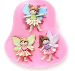 $enCountryForm.capitalKeyWord Canada - Super 3 Small Fairy Wizard Angel Silicone Candy Chocolate Clay Gumpaste Sugar Craft Fondant Mold Cake Decorating Molds