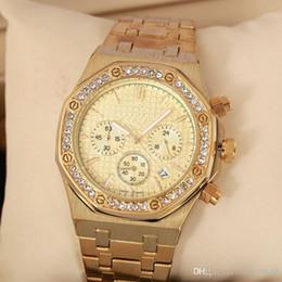 Todos los Subdiales funcionan Reloj AAA de crimen Reloj de cuarzo de acero inoxidable Reloj de lujo de primera marca Reloj con sinfín de marca