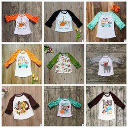 Floral Print Shirts Baby Australia - Unicorn Baby Clothes Boys Ruffled Sleeve T-shirts Ins Elephant Floral Tops Fashion Printed Tees Cotton Dot Shirt Casual Streetwear YL264