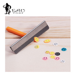 polymer charm wholesale Canada - 1PCS Razor Fimo Polymer Clay Canes Rods Blade Cutter for 3D Nail Art Decorations Fruit Sticks Charms Slices Tools Foil DIY Set