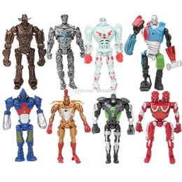 Chinese  Real Steel Action Figures toys New Cartoon 8pcs set Collection Model Dolls Toys Gift For Kids C4548 manufacturers
