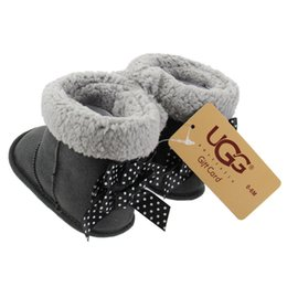 toddler snow shoes 2019 - 2018 Winter Baby Shoes Newborn Bowknot Girls Warm Snow Boots Infant Toddler Prewalker Shoes 0-18Mos cheap toddler snow s
