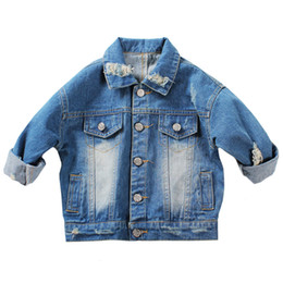 $enCountryForm.capitalKeyWord UK - 1-5Yrs Baby Boys Outerwear & Coat Girls Hole Denim Jackets Coats New 2018 Fashion Spring Children Outwear Coat Kids Denim Jacket