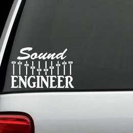$enCountryForm.capitalKeyWord Canada - Sound Engineer Decal Sticker Music Mixer Sub Woofer Drums Guitar Bass Keyboard Handsome And Cool Stickers