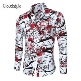 c95cec20cce Cloudstyle 2018 Brand New Men Shirts Casual Flora Long Sleeve Business  Formal Shirt High Quality Slim Fit Men Imported -Clothing