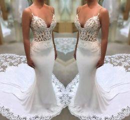 469cf1b8be5 Spaghetti top dreSS online shopping - Modern Spaghetti Beach Wedding Dresses  Lace Top Sexy Bridal Gowns