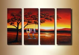 $enCountryForm.capitalKeyWord Australia - handmade oil painting modern art deco sunset landscape painting group painting discount room decor wall décor