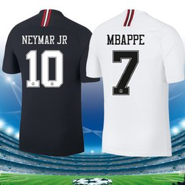 football league NZ - Champion league psg new black soccer jersey MBAPPE maillots 18 19 Paris white saint germain Maillot de foot tops Thailand football shirt