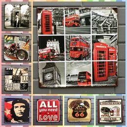 Big Ben Paintings Australia - LONDON BIG BEN 30*30cm Posters Vintage Home Decor Tin Signs Graphic Tablet Metal Art Wall Paint Crafts Supplies