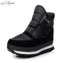 boot hooks 2019 - Mhysa 2018 Men Boots Solid Black snow boots for men Hook&Loop thick plush waterproof slip-resistant warm male booties S8