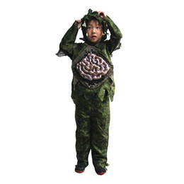 Discount kids scary costumes - Children Kid Boy Halloween Cosplay Scary Zombie Ghost Large Intestines Costume Horror Swamp Party Props Stage Outfits Cl