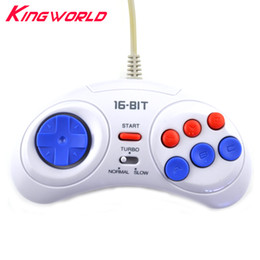 $enCountryForm.capitalKeyWord NZ - 16 bit Classic Wired Game Controller for SEGA Genesis 6 Button Gamepad for SEGA Mega Drive Mode Fast Slow white