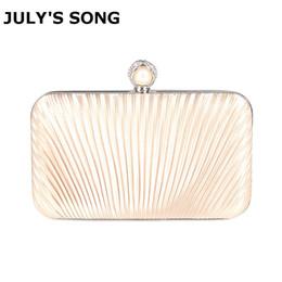 $enCountryForm.capitalKeyWord NZ - Elegant Hard Box Clutch Silk Satin Champagne Evening Bags for Matching Shoes and Womens Wedding Prom Evening Party Handbag Y18103004