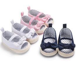 babes dresses 2019 - Baby Girls Shoes Footwear Newborn Infant First Walkers Kids Crib Babe Soft Sole Flower Prewalkers Dress Shoe