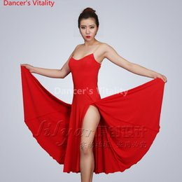 ... 3pcs Set with Sleeves Ballroom Fringe  classic 29b3b 87554 Latin Dance  Dress Competition Performance Sexy High Split Shoulder-straps Suits for ... afc8bf41f103
