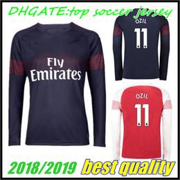 0b61479862d 2018 Arsenal Gunners OZIL AUBAMEYANG Long sleeve soccer jersey 18 19 ALEXIS  WILSHERE GIROUD LACAZETTE CHAMBERS XHAKA home football shirt
