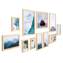 Painted Wall Hangings UK - 11 Piece Photo Frame Wall Gallery Kit Includes: Hanging Wall Template,Painting Core,for Interior dining room living room dining room