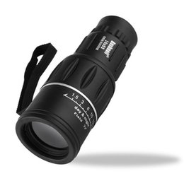 Telescope Free Shipping UK - Black Single Focus 16x52 Zoom Monocular Telescope Optic Lens Travel Spotting Scope HD Monoculars Telescopes Outdoor Device Free Shipping