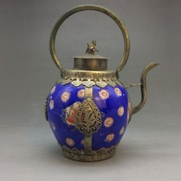 $enCountryForm.capitalKeyWord Australia - Handmade flagon of blue and white porcelain in China Outsourcing Tibet silver>>>Free shipping