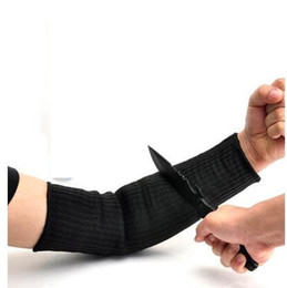 Wholesale 1 Pair Steel Wire Cut Proof Arm Sleeve Guard Bracer Anti Abrasion Armband Protector Anti-Cutting Arms Work Labor Protection Tool