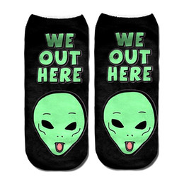 a7510c950 Wholesale Novelty Slippers UK - Men Novelty Cool Socks Digital Printing  Patterned Animal Low Cut Ankle