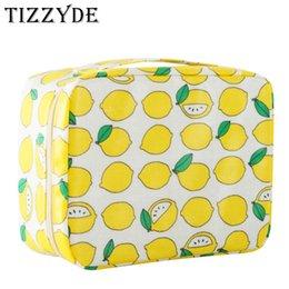 Caráter Fresco Limão Mulher Saco de Cosmética Grande Beleza Profissional Wash Necessaire Viagem Organizador De Higiene Pessoal Make up Bags MHM01
