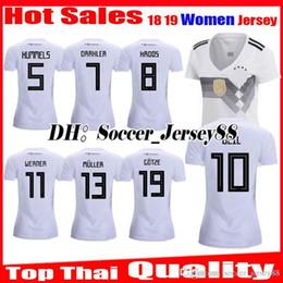 2018 2019 Women Top thai quality soccer jersey girl MULLER OZIL KROOS World  Cup home white 18 19 GOTZE REUS HUMMELS GermanyS football shirt ee1554ae5